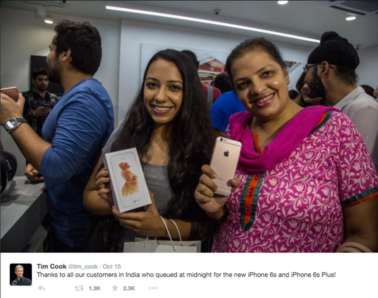 India is Apple's next big market, according to Tim Cook.