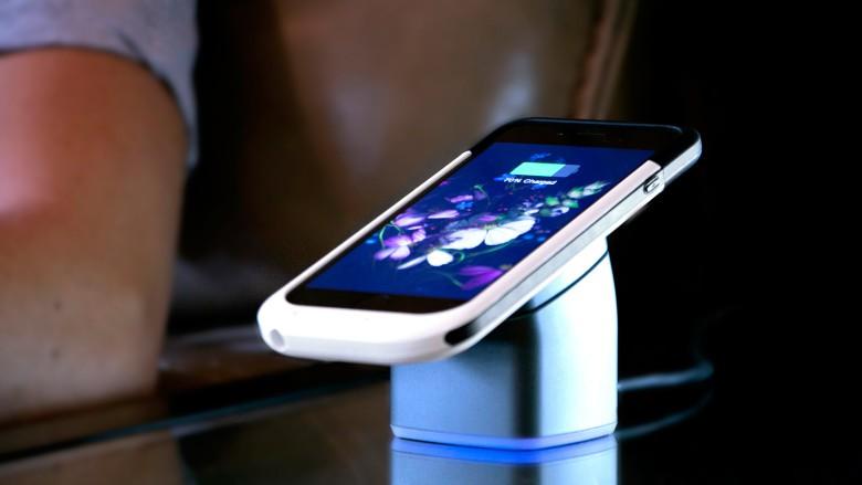 PowerGo-Go's magnetic charging cradle.