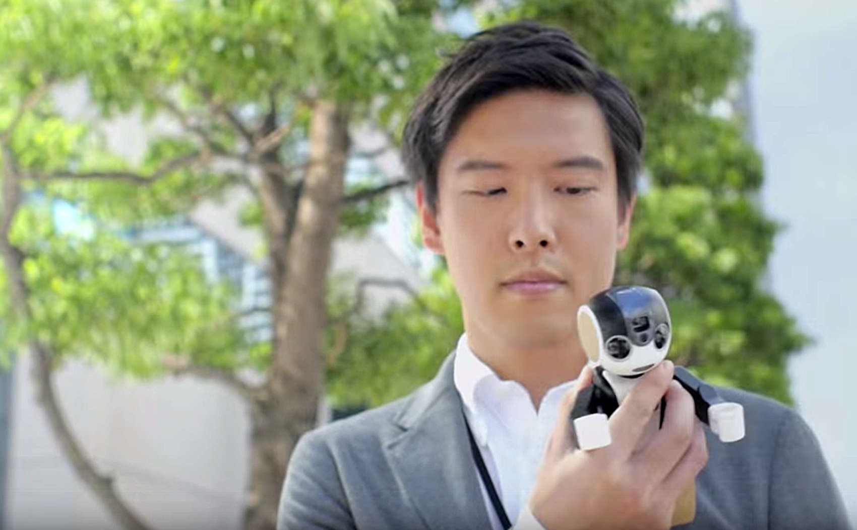 This guy has traded in his smartphone for a RoBoHon.