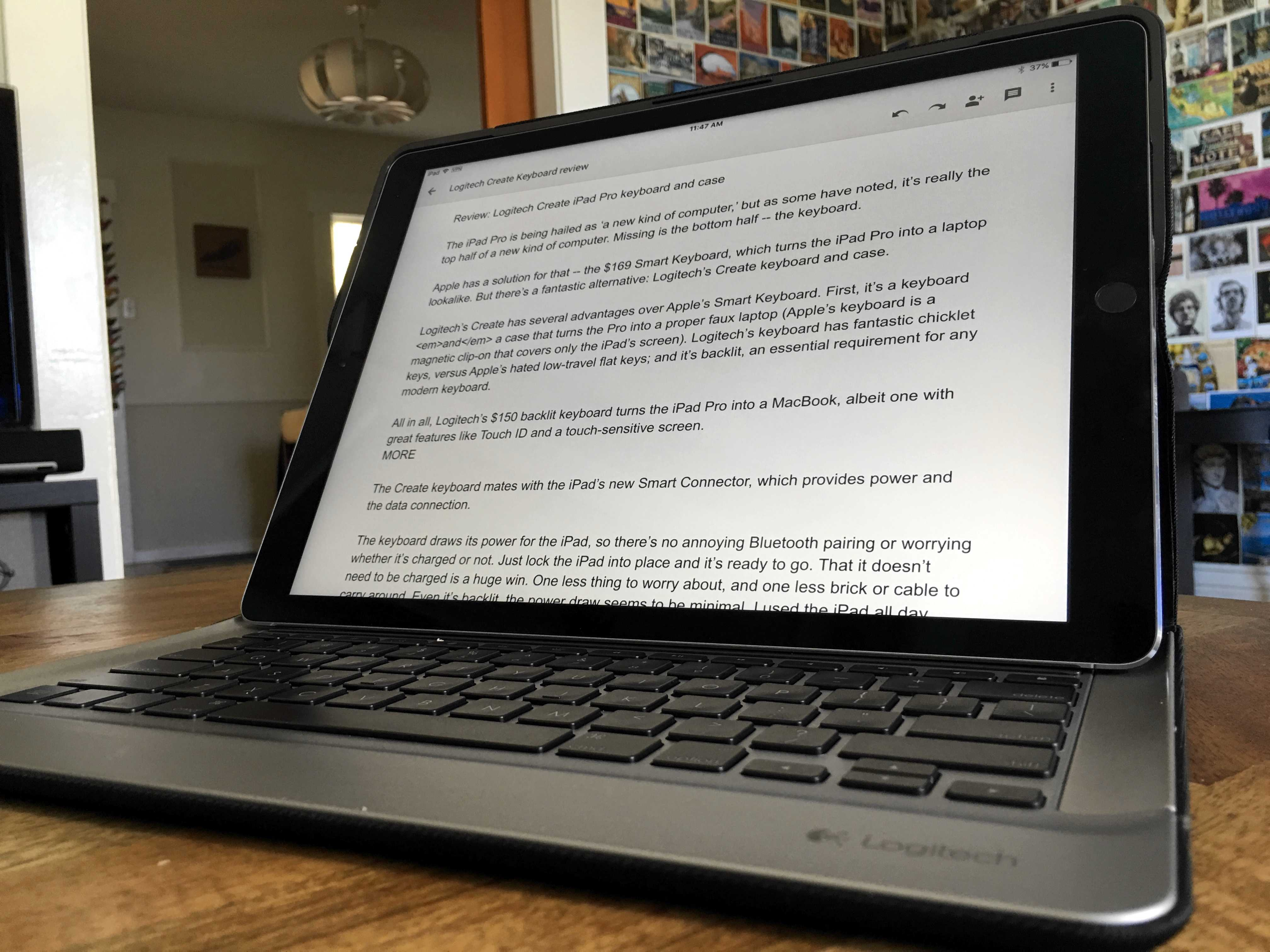 Review: Logitech\u0027s keyboard case for iPad Pro makes it a proper laptop