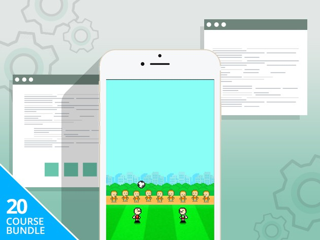 This bundle of four lessons lets you cut your teeth on developing for iOS with 20 different games.