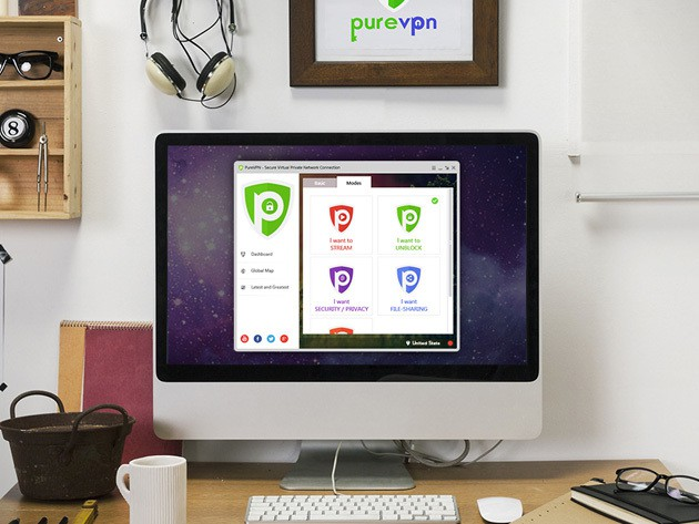 PureVPN encrypts and accelerates your internet connection while bypassing location restrictions.