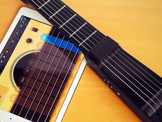 The Jamstik is a versatile and super portable MIDI controller that plays just like a normal guitar.