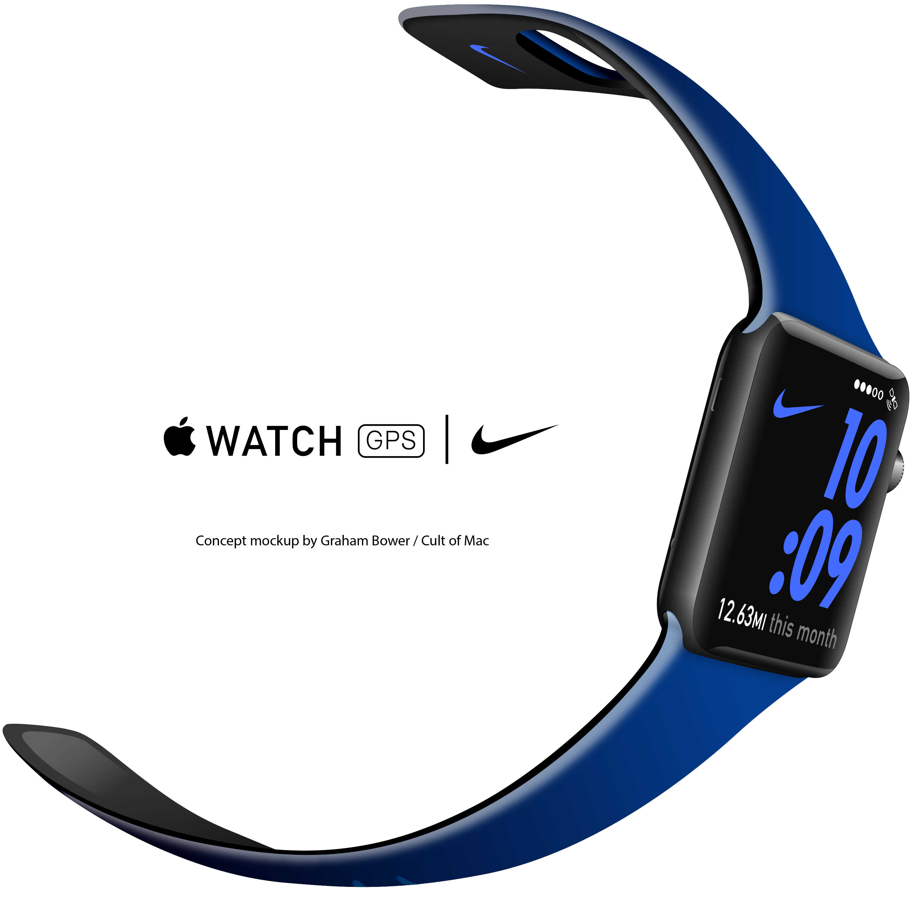 Concept mockup: If Nike made bands for Apple Watch