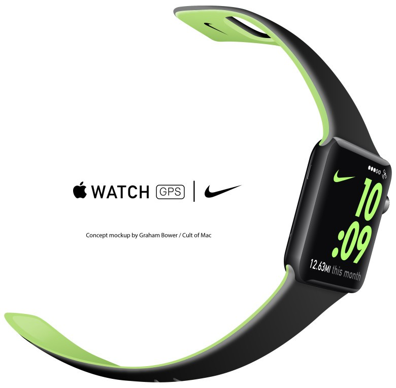 Concept mockup: will Apple Watch 2 focus on runners needs?