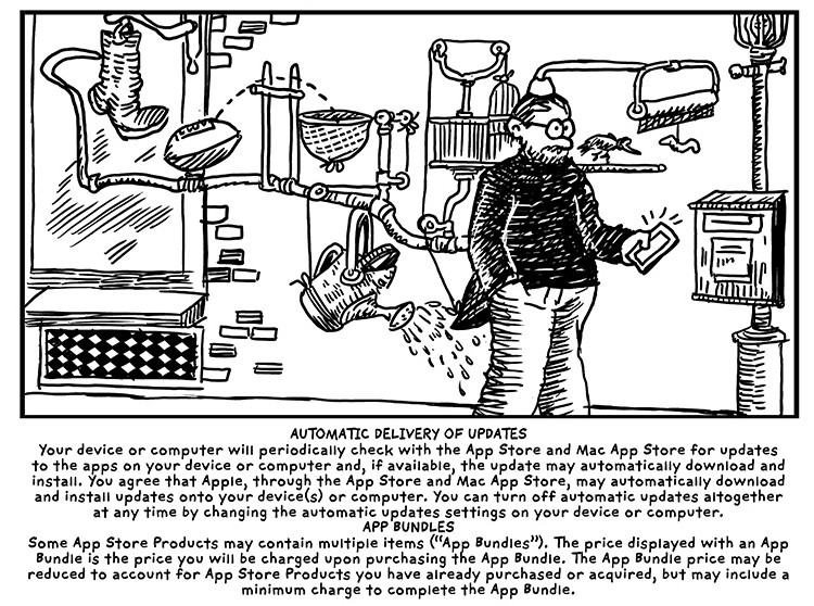 Terms in the style of Rube Goldberg.