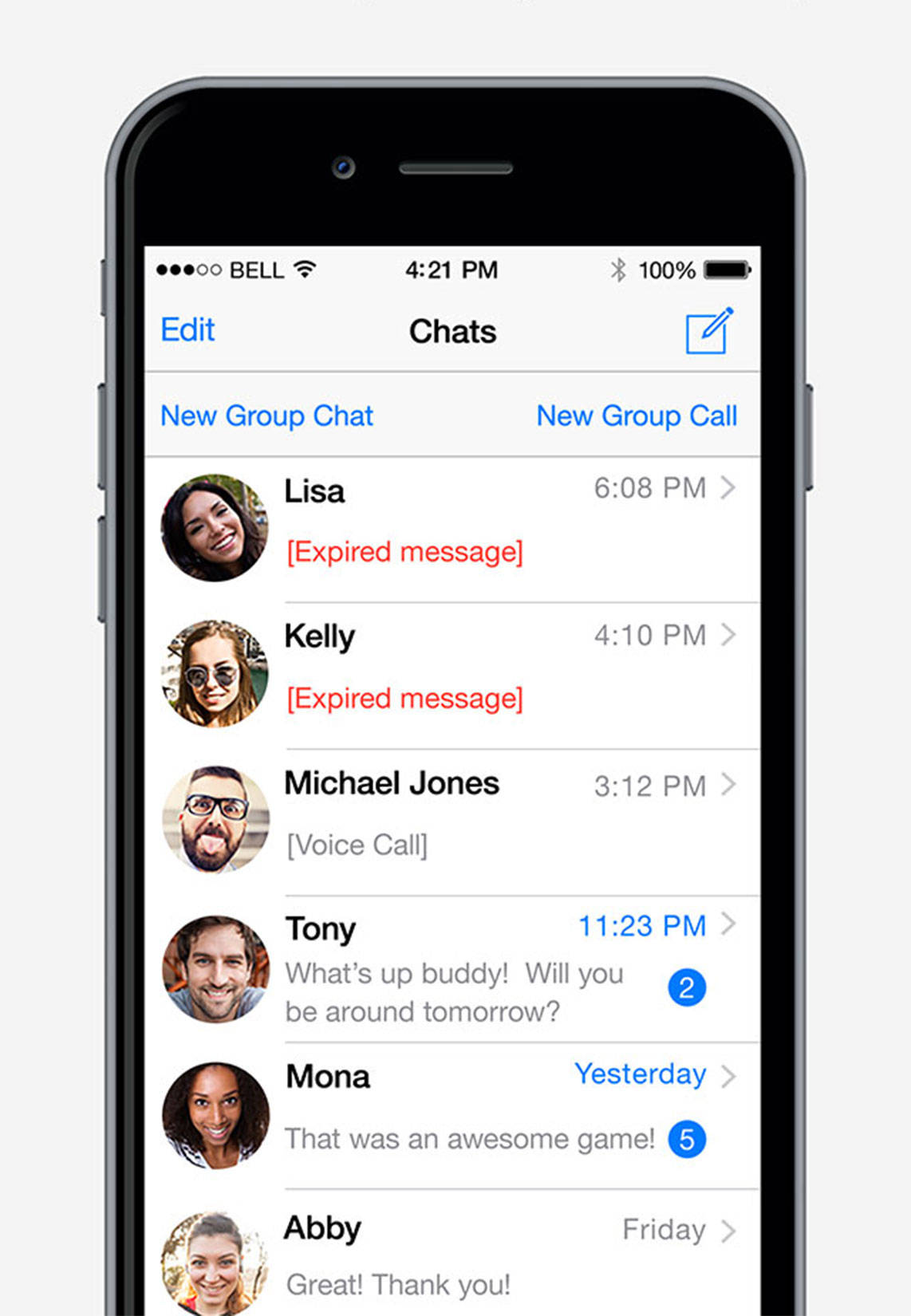 End-to-end encryption keep communications private and group chats can include up to 500 users.