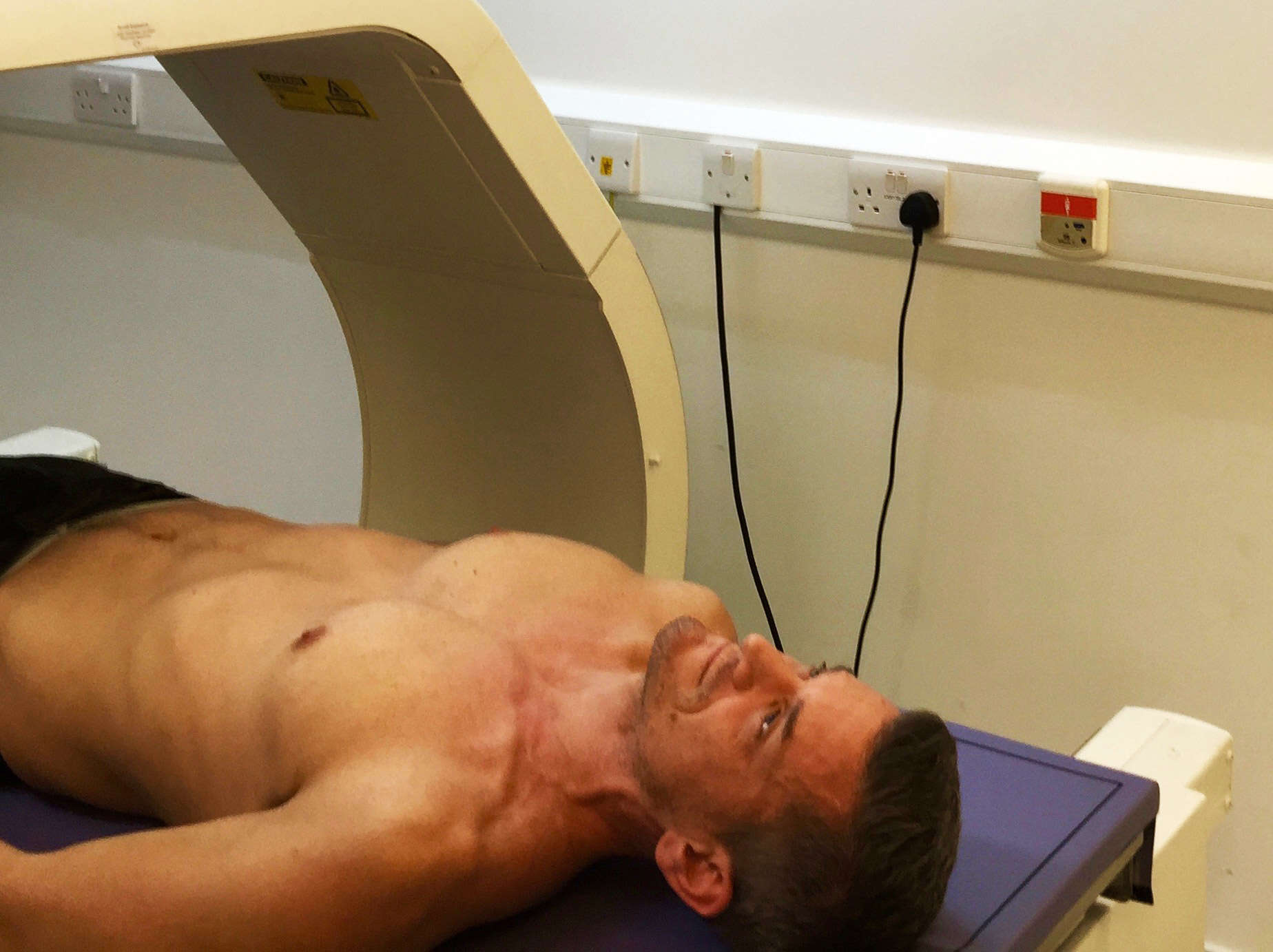 Getting a DEXA scan from Bodyscan is easy. You just lie there..
