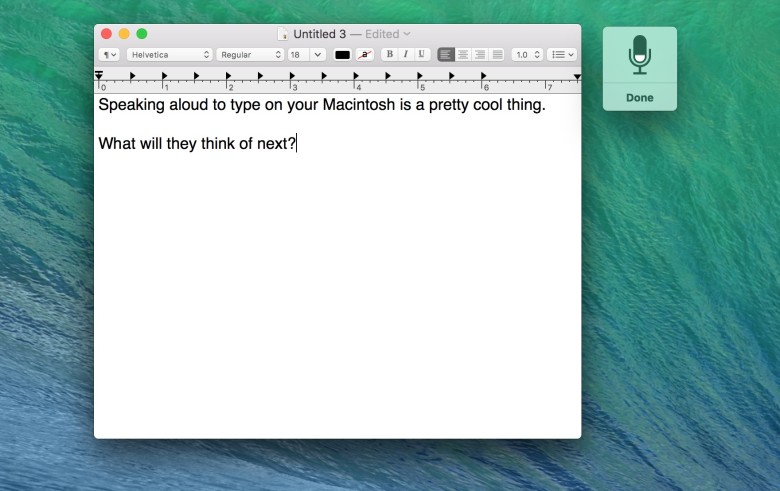 Ah, dictation on your Mac. What could be better?