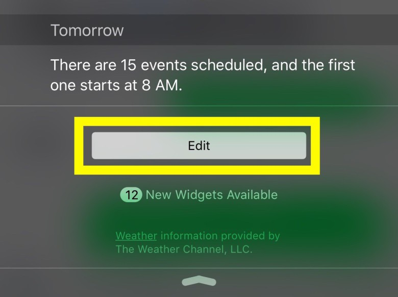 Add and remove widgets here.