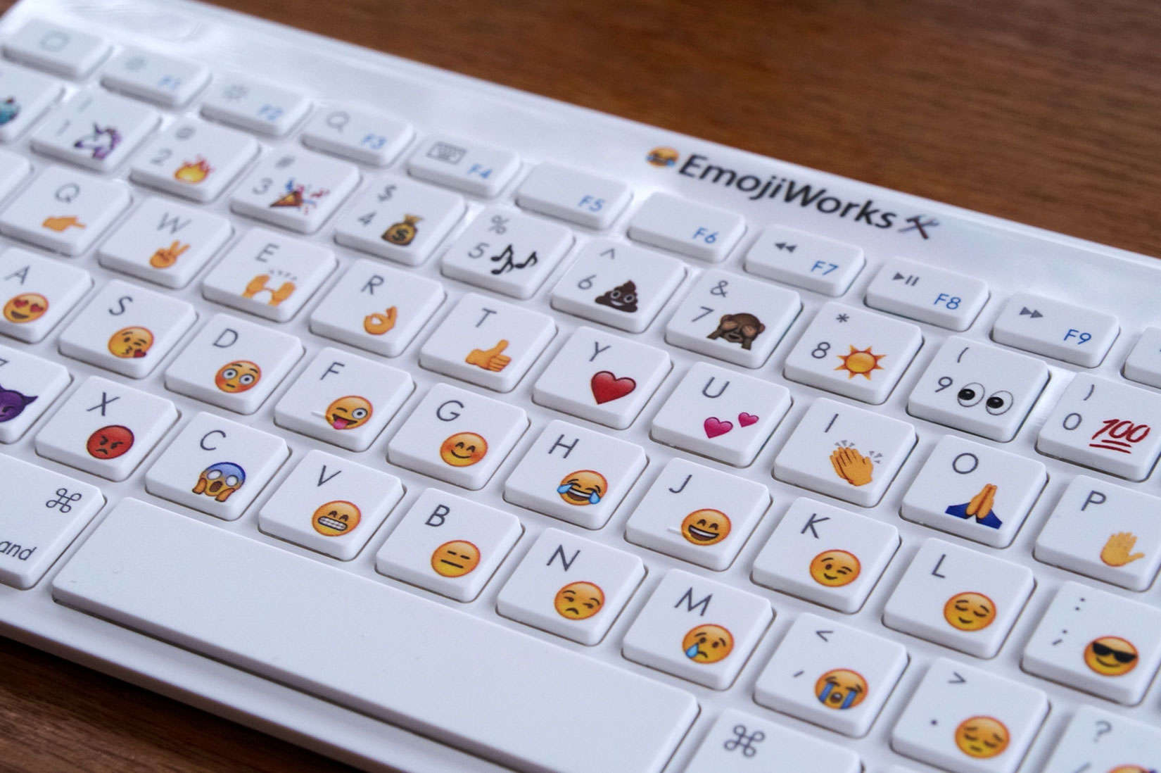 This keyboard from EmojiWorks is a quicker way to express your feelings via emoji.