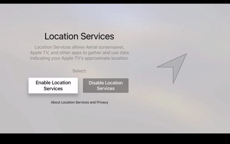Let Apple know where you are, even if it's just in your living room.