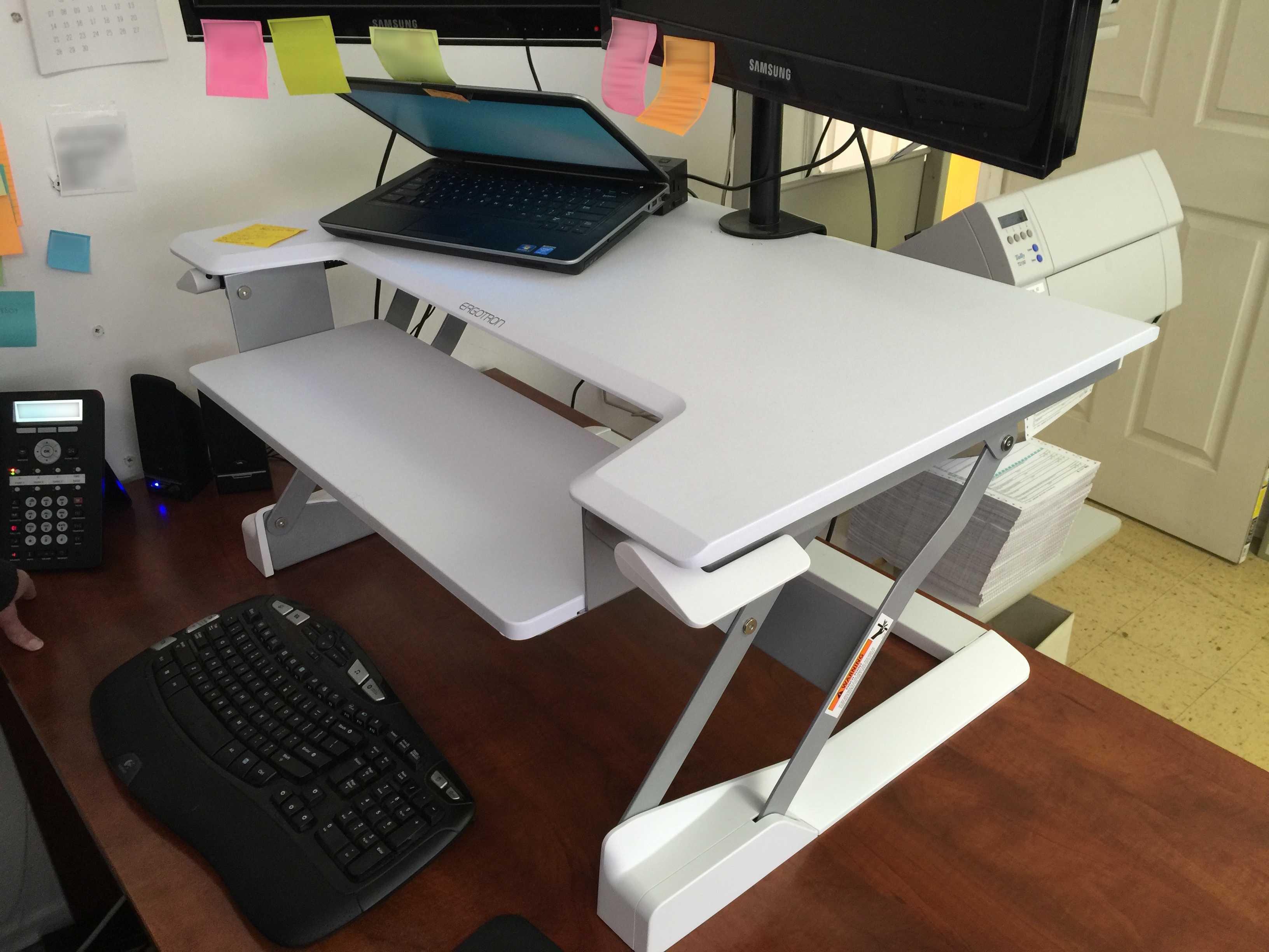 Review Sit Stand Desktop Workstation Will Transform Your Desk