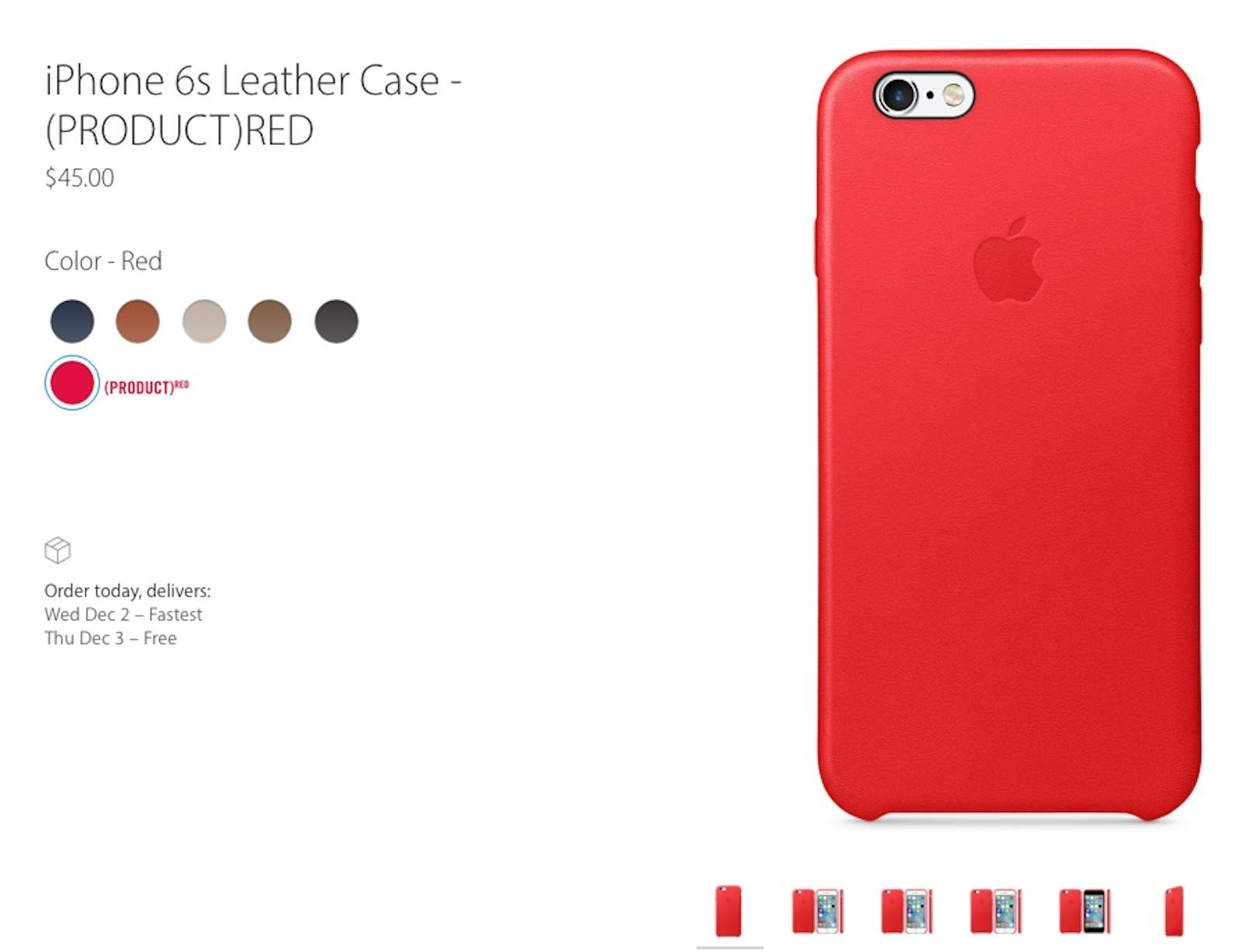 Apple Iphone Red Leather Case