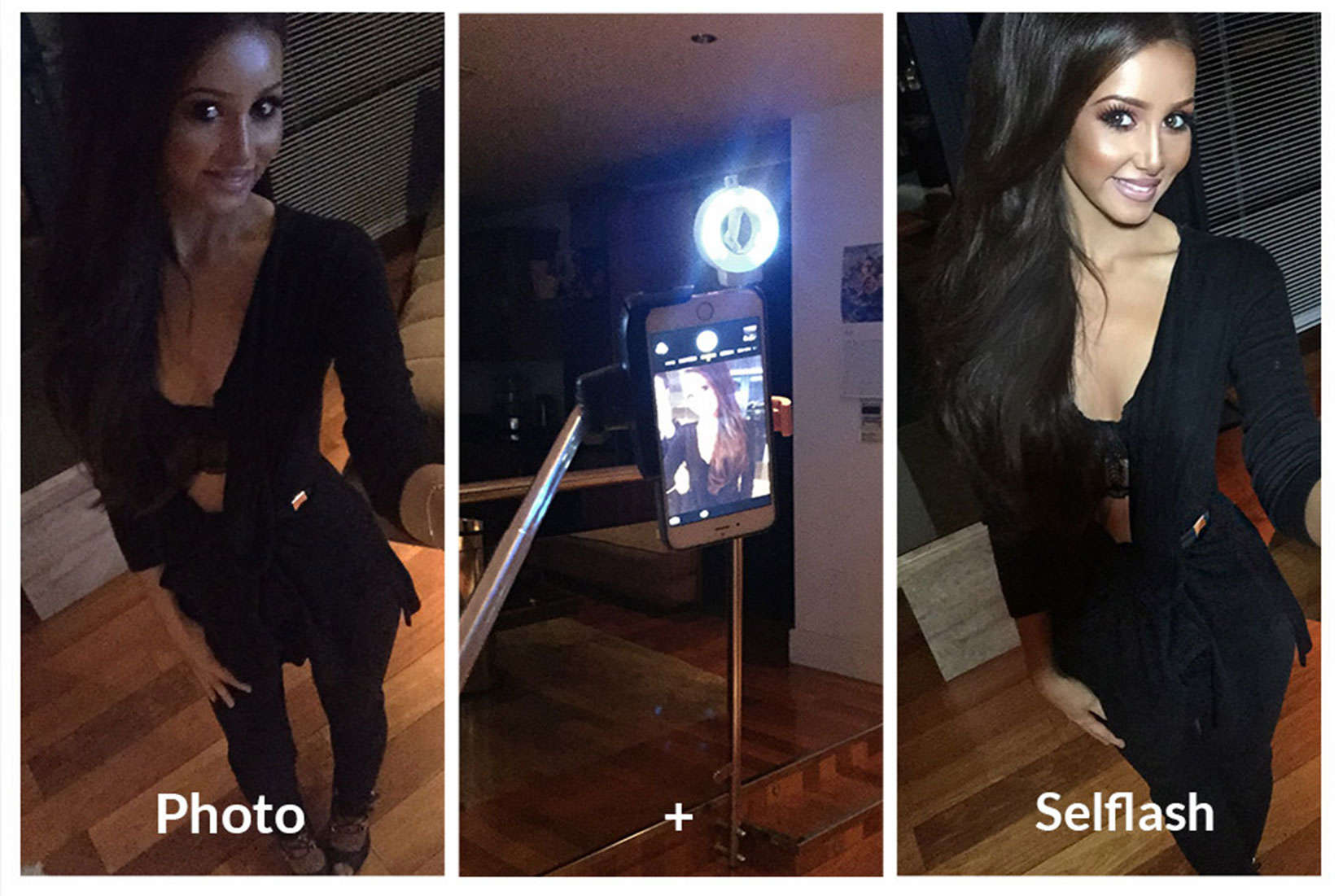The SELFLASH can help us look our best in dark places.