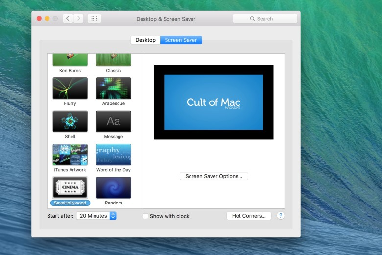 Now you can get any video you like up on your Mac's screen saver.