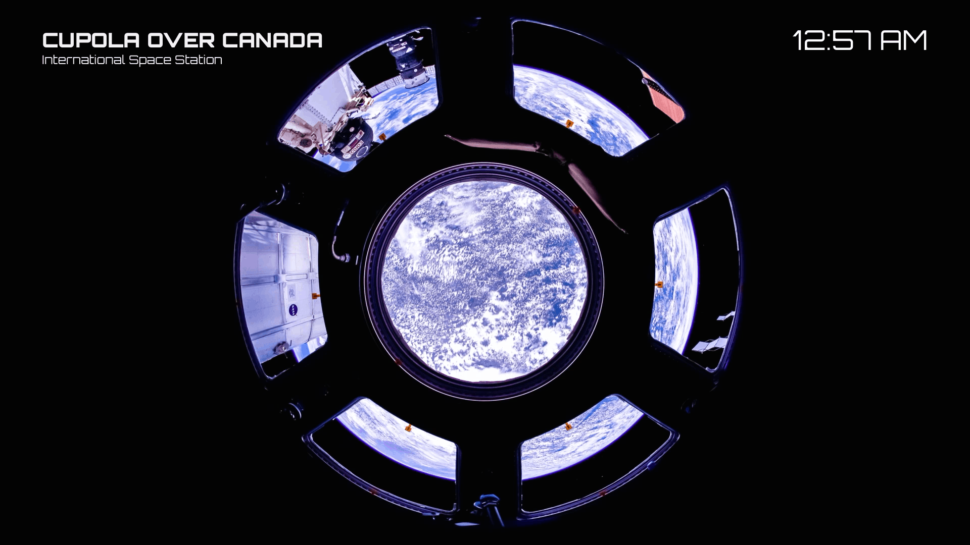 canada through the iss cupola window
