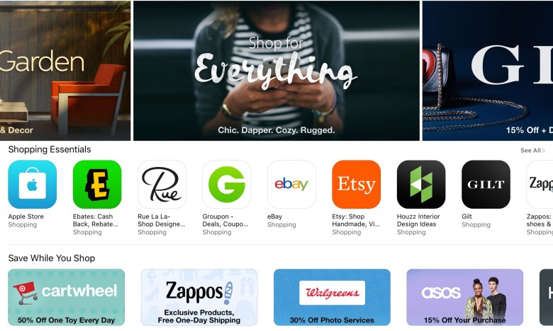 The App Store's newest category is all about shopping.