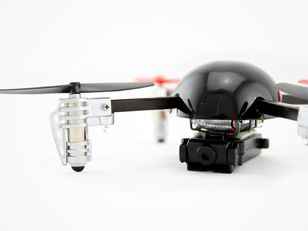 The Micro Drone 2.0+ is easy to use, durable, and can fly right side up or upside down.