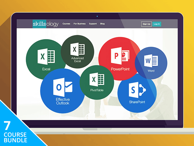These 7 courses cover every corner of Microsoft Office, essential to any modern workplace.