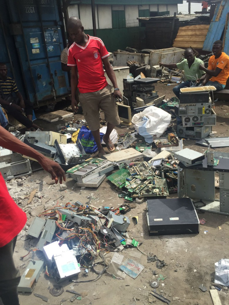 Much of the world's e-waste ends up in Accra, Ghana.