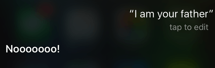 Play Darth Vader with Siri and get some hilarious responses