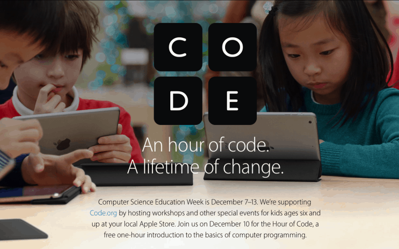 Apple offering kids free 'Hour of Code' programming classes