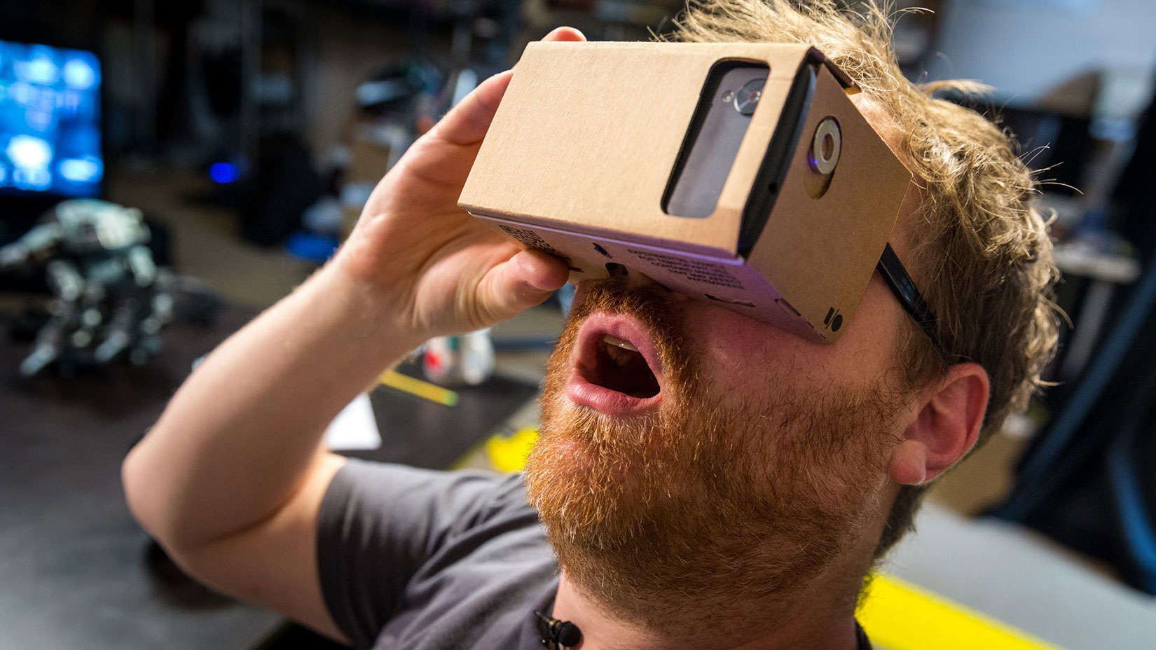 Virtual Reality experiences can be had with your smartphone and cardboard viewer.