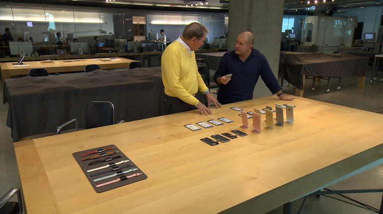Charlie Rose got a rare peak inside Jony Ive's secretive design lab.