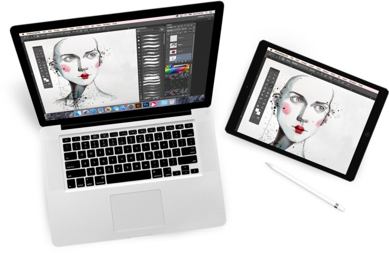 Draw on your Mac via your iPad Pro. Slick!