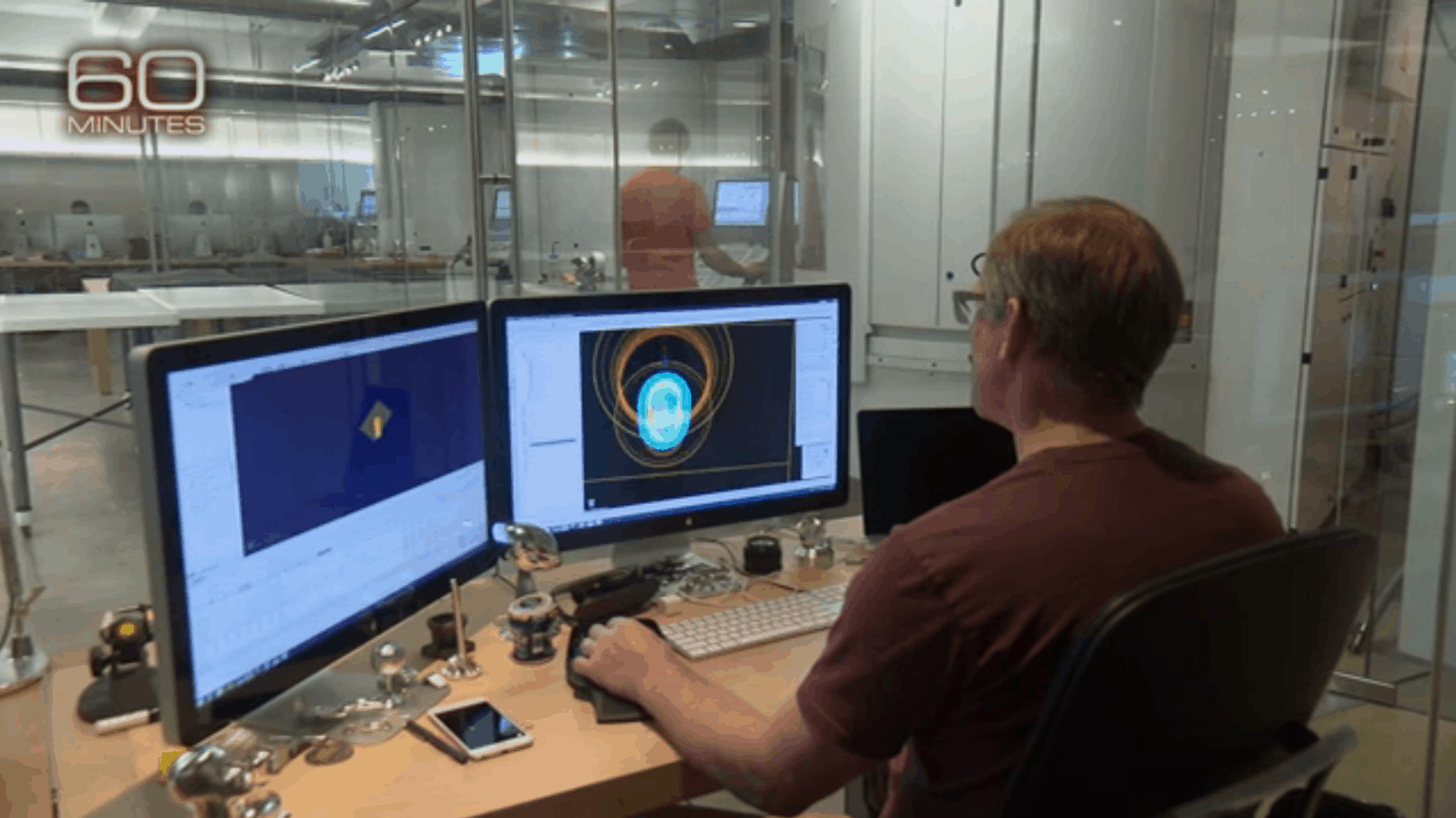 The inner sanctum, aka, the Apple design lab