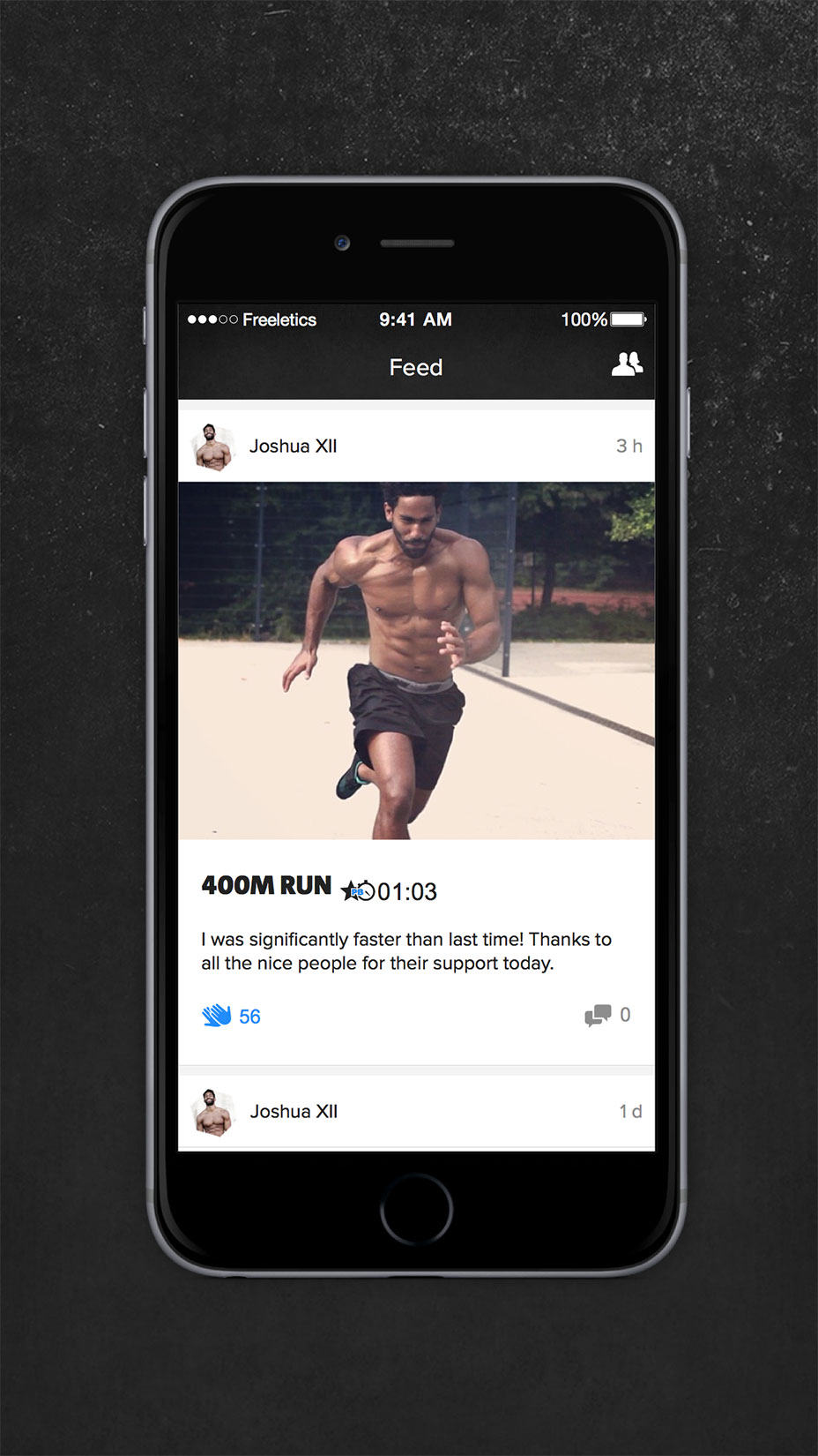 The app has more than 1,000 workout variations.