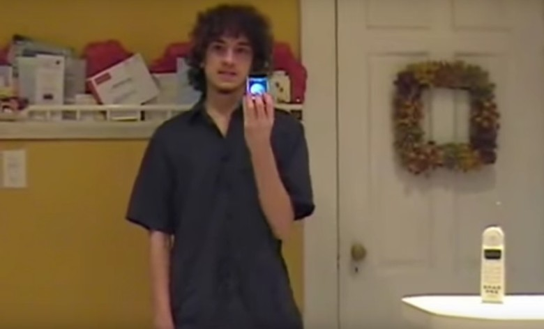 George Hotz aka 'geohot' unveiling the world's first unlocked iPhone