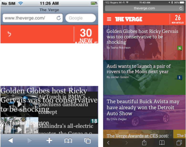 Nine years later, the original iPhone is still pretty great at rendering the modern web...  except when it isn't.