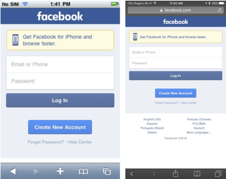 Facebook still renders perfectly on iOS 3.1.3.