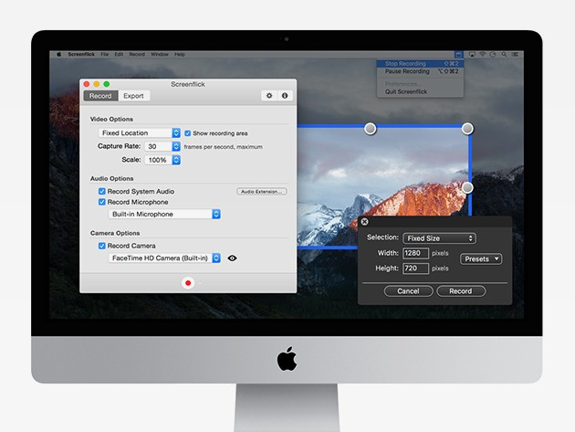 Screenflick makes it easy to create high quality video tutorials and demos right from your screen.
