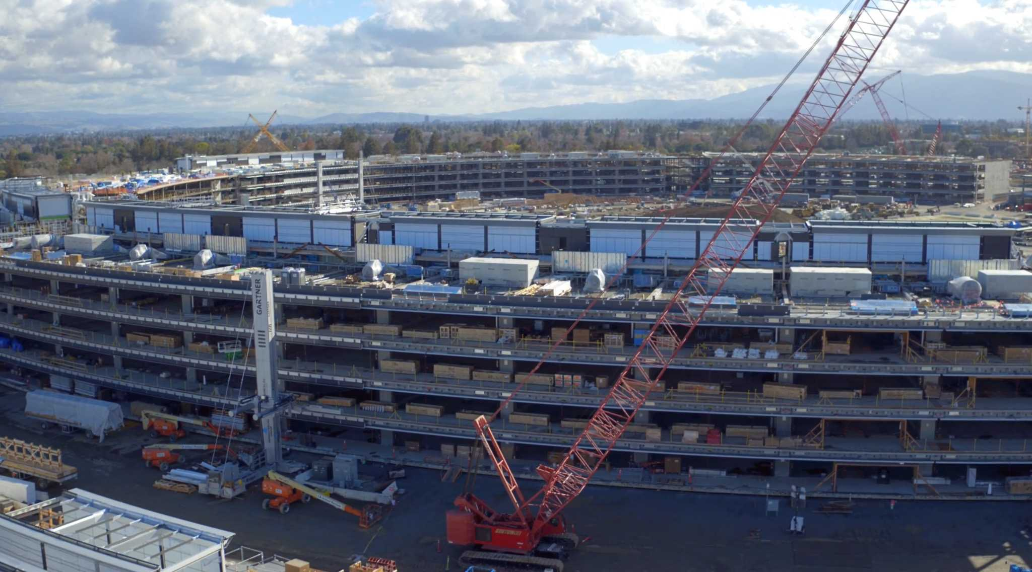 drone vid shows apple campus 2 s cool underground