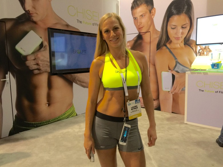 CES's booth babes have been replaced by toned fitness models.