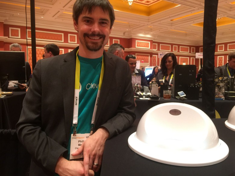 "CleverPet's ""brain puzzles"" keep dogs entertained, says Clever Product Officer Philip Meier, who showed off the new Kickstarter-funded device at CES 2016."