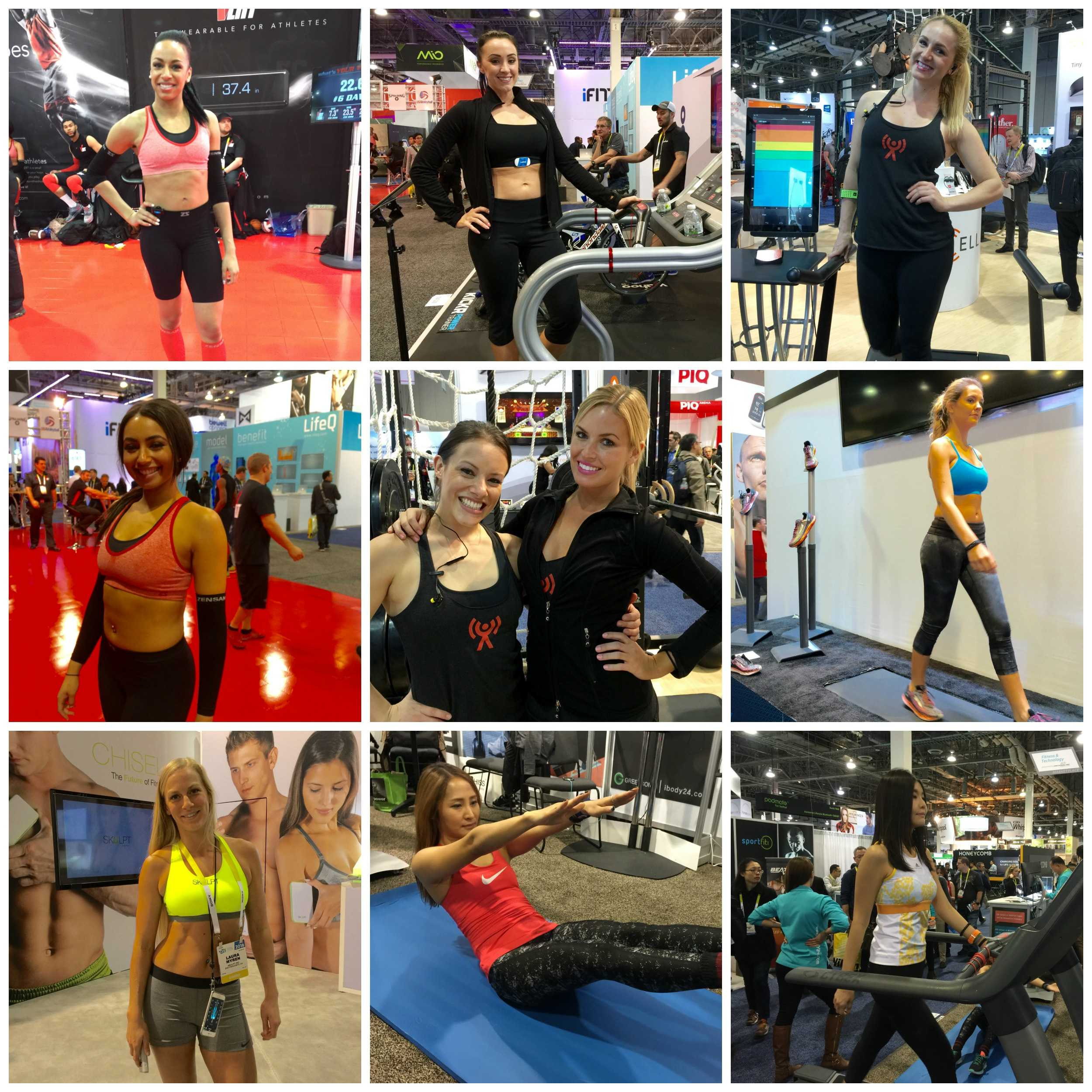 There were quite a lot of fitness models at CES this year wearing sports bras instead of pasties.