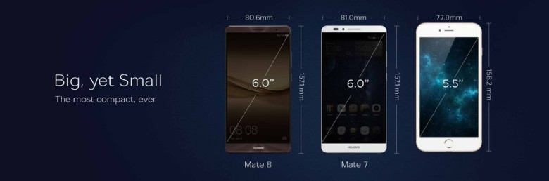 Huawei Mate 8 vs iPhone 6s Plus CES 2016