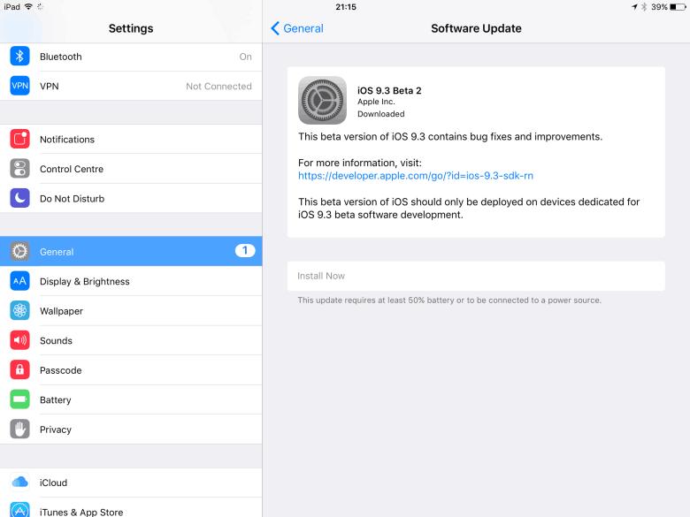 iOS 9 3 beta 2 brings new goodies   Cult of Mac