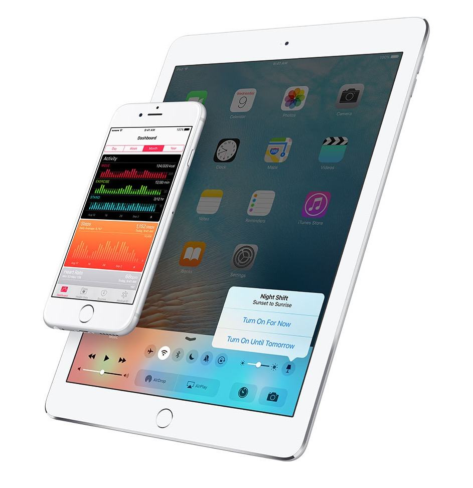 This official Apple image might prove Night Shift will be part of Control Center.