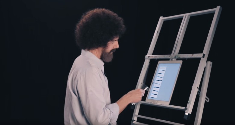 Adobe has resurrected Bob Ross to promote Photoshop Sketch on the iPad Pro.