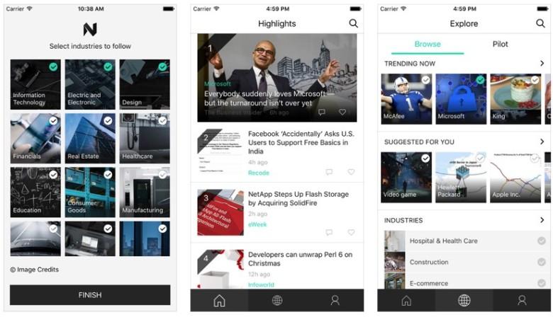 Microsoft's professionally-focused news app, News Pro.
