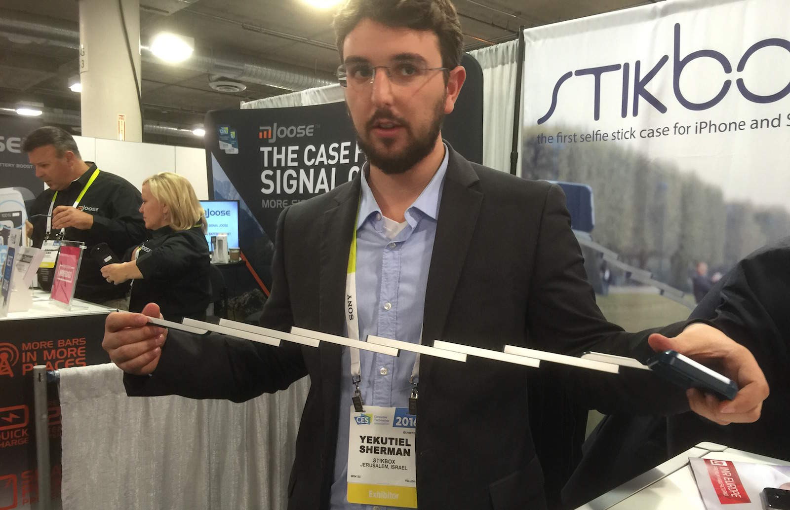 Stikbox selfie stick case CES 2016
