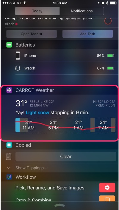 CARROT offers beautifully put together weather info, with an attitude.