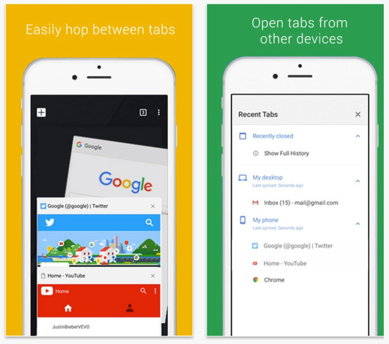 Google says Chrome users on iOS will like the way the update performs.