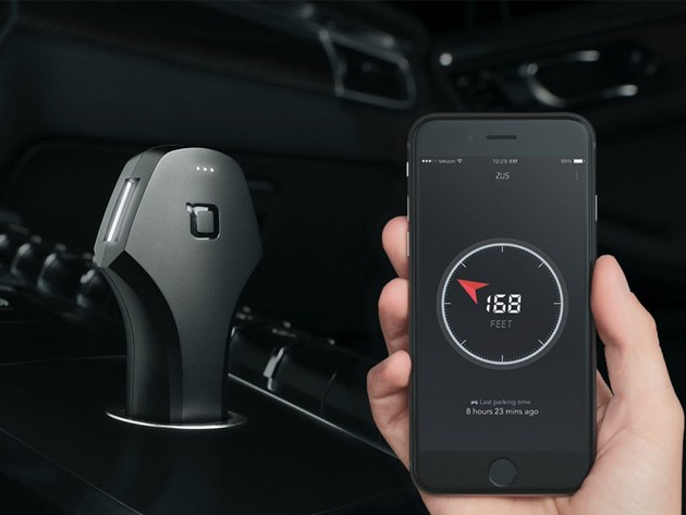 Charge your devices and find your car via the Zus's Bluetooth locator function.
