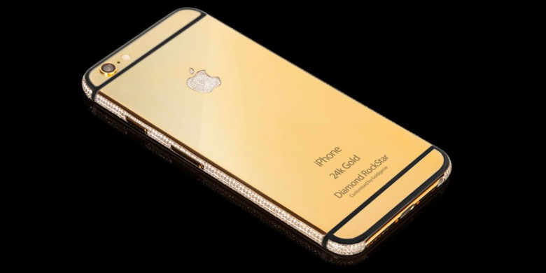 Goldgenie offers the iPhone 6s with a couple of additional upgrades, diamonds and gold.
